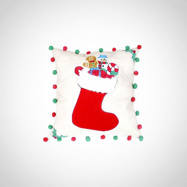 Picture of Christmas Stocking cushion, Size: 42x42cm
