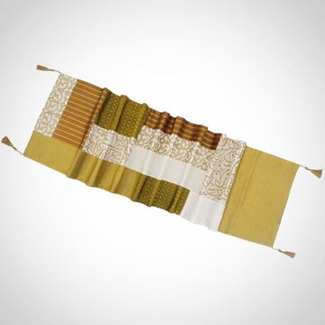 Picture of Patchwork Calligraphy design table runner