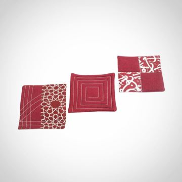 Picture of 3 Burgundy hot mats