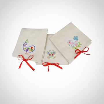 Picture of Linen bags (for guest towels) with custom embroidery