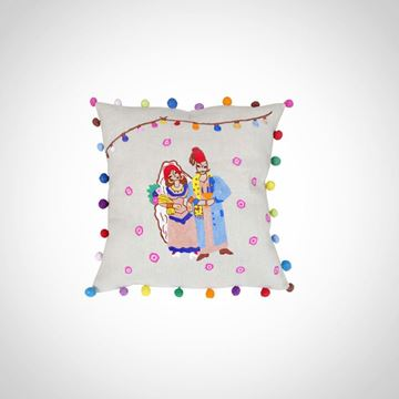Picture of Farah El- Omda (Wedding) design cushion with fiber filling, Size: 42x42cm