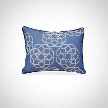 Picture of Islamic geometrical pattern cushion, Size: 48x39cm