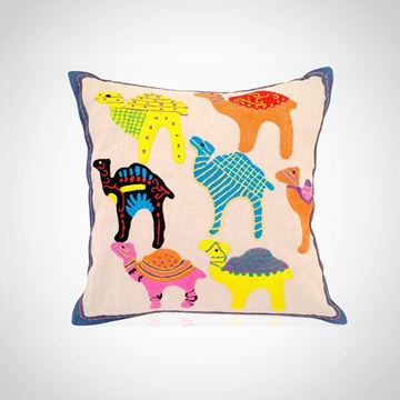 Picture of Colorful camel design cushion, Size: 48x48cm