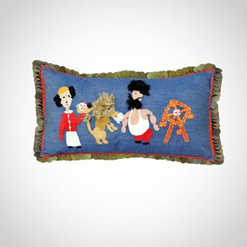 Picture of El leila el Kebira (kahwagy) in jeans with copper coins, Size: 49x30cm