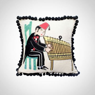 Picture of Musicians cushion (Anon), Size: 42x42cm