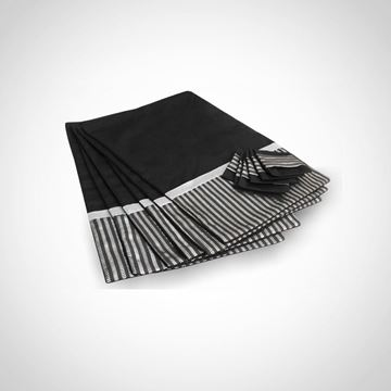 Picture of set of 6 black placemats