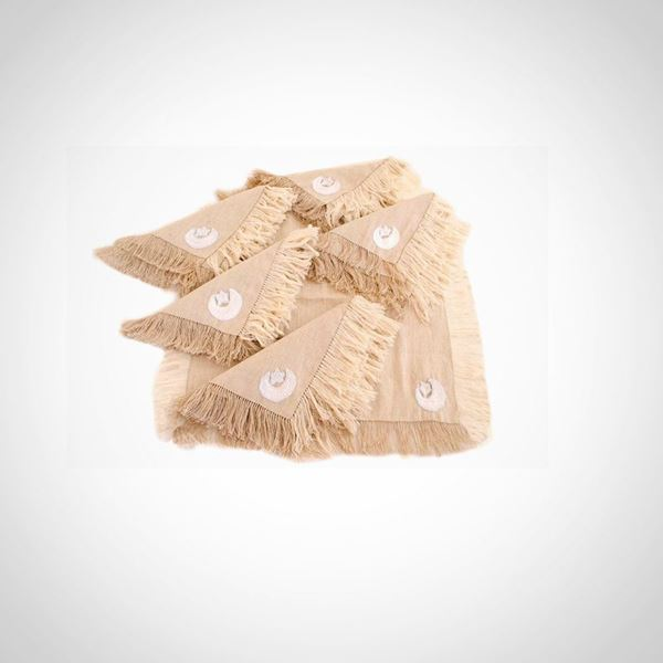 Picture of Crescent & star napkin with tassels