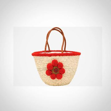 Picture of 'Straw beach bag with flower('offa')