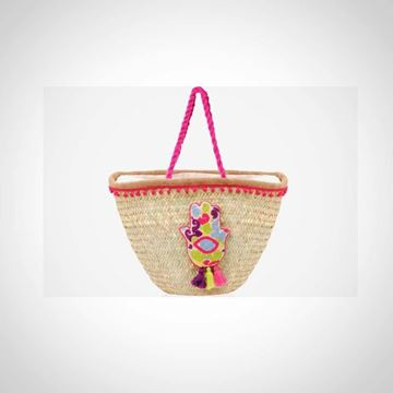 Picture of 'Straw beach bag with crochet handle and kaff Fatma ('offa')