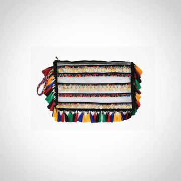 Picture of Fringed leather shoulder bag