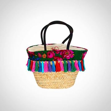 Picture of floral Scarv reed woven tote bag ('offa')