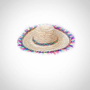 Picture of Hat with colored tassels