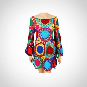 Picture of Colorful crochet cache maillot