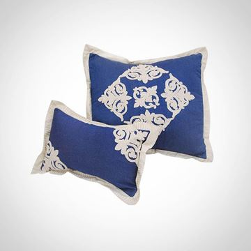 Picture of Jeans square cushion with islamic design