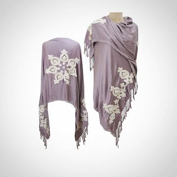 Picture of Rose shawl with beaded edges (80 cm)
