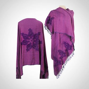 Picture of Purple shawl with beaded edges (80 cm)