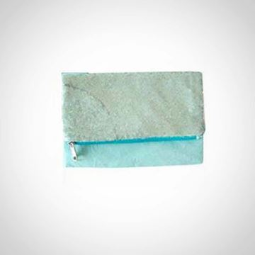 Picture of Light blue clutch with light blue paillettes
