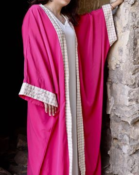 Picture of Pink Kaftan with gold Islamic design