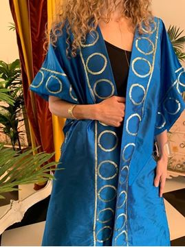 Picture of Blue Kaftan with Circles