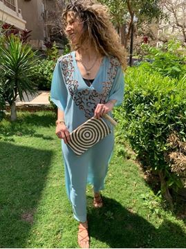 Picture of Abaya Farouz with star shape