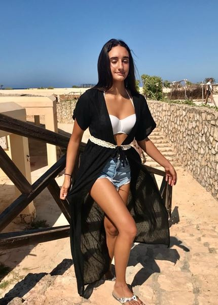 Picture of Beach robe cover up in black