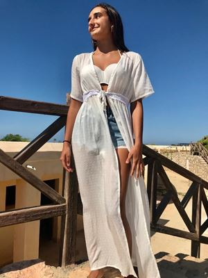 Picture of Beach robe cover up in white