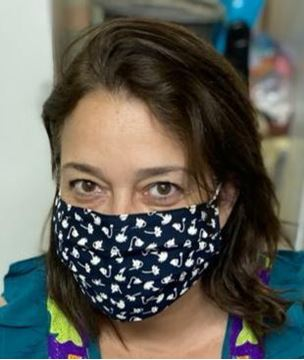 Picture of Adults masks are composed of 3 layers including a filter and nose support.