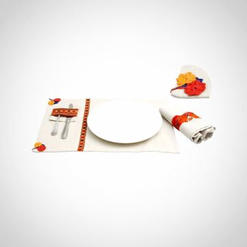 Picture of Set of 6 linen placemats & cutlery holders