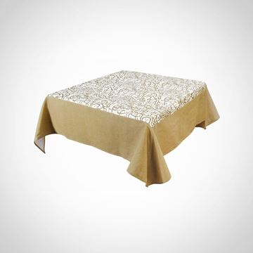 Picture of Calligraphy tablecloth with golden border