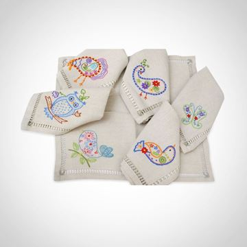 Picture of Set of towels with 'Birds' design (Price per piece)
