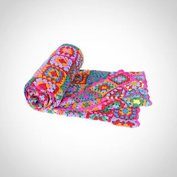 Picture of Colourful cotton blanket Size: 150*150cm  (customizable)