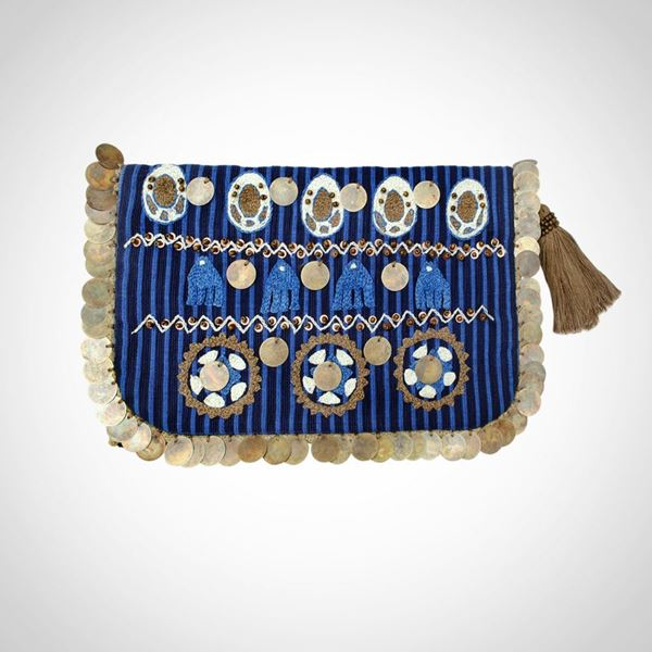 Picture of Nubian earring blue pouch L 23 * w 28