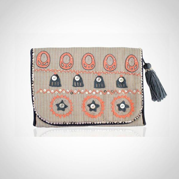 Picture of Nubian earring grey pouch L 23 * w 28