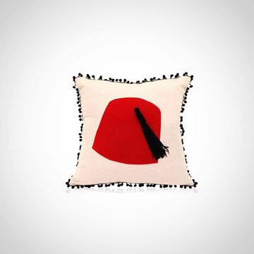 Picture of Patchwork Tassel Tarboush cushion  38*38 CM