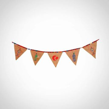 Picture of Burlap Garland with crescents 150 cm