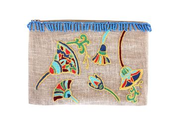 Picture of Rebirth clutch inspired by the Ancient Egyptian symbol of the lotus flower . L 22 * w  31