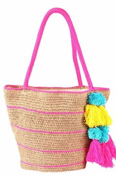 Picture of A pop of color adds fun to the handwoven basket..    20*28 .