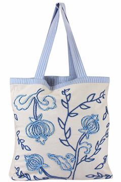 Picture of Timeless tote is always in style! The intricate pomegranate embroidery adds a touch of style. L 51 * w 47