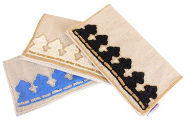 Picture of Inspired by the architecture of Egypt in blue , these clutches are both practical and polished... L 17 * w 31 cm