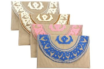 Picture of Lotus clutch with beads L 23 * w 37
