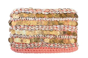 Picture of Sea Shells clutch in Dusky pink L 22 * W 32