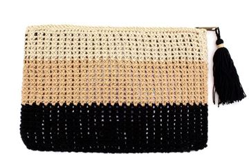 Picture of 3 colored crochet clutch L 19 * w  28