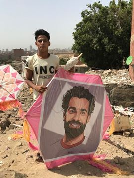 Picture of  1.5m Mohamed Salah printed kite, 4m tail, 130m rope.