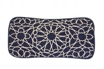 Picture of Arabe design cushion rectangle shaped in jeans, Size: 46x26cm