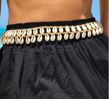 Picture of Belt with shells in beige
