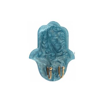 Picture of Aqua Epoxy resin key holder for wall