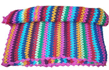 Picture of Colorful zigzag blanket Size: 160*180cm  (customizable)