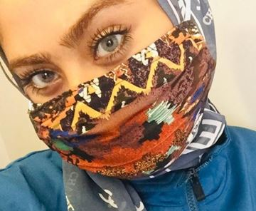 Picture of BROWN MASK - MASKS ARE COMPOSED OF 3 LAYERS INCLUDING A FILTER AND A NOSE SUPPORT