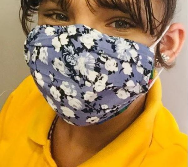 Picture of Floral Mask for children. Masks are composed of 3 layers including a filter and a nose support