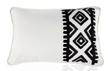 Picture of Klim Cushion with black geometrical patterns (35 x 55cm)